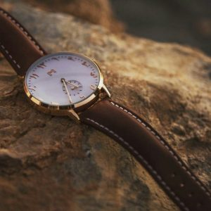 Almanac Arabic Dial Pure Leather Watch