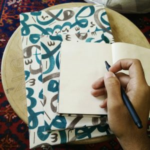 Arabic Huroof Notebook Set of 3 (Blue-Grey)
