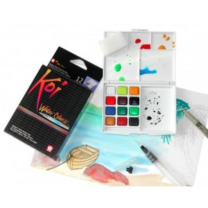 KOI Watercolors Field Box Set of 12 Colors