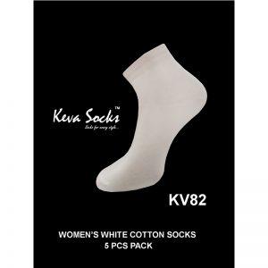 Ladies White Socks
