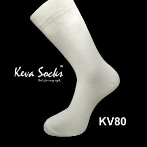 KV80 White Gents Socks